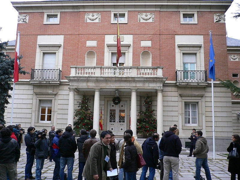 Front part of the Moncloa Palace