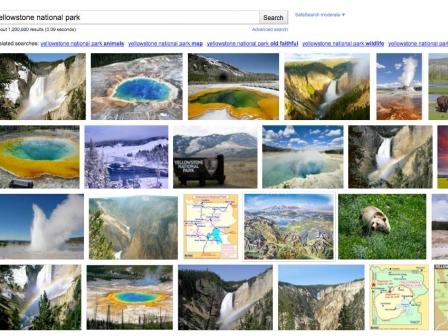 Google Imagesen diseinu berria. Argazkia: Google