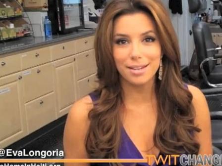 Eva Longoria @twitchange kanpainako irudia da. Argazkia: @twitchange