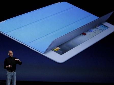 Steve Jobs, iPad 2 berriaren aurkezpenean. EFE