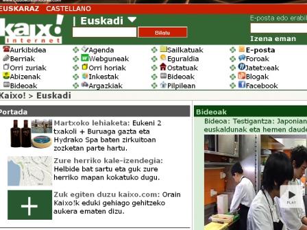 Kaixo.com-ek zenbait udalerriren informazioa eskainiko du. Argazkia: EITB
