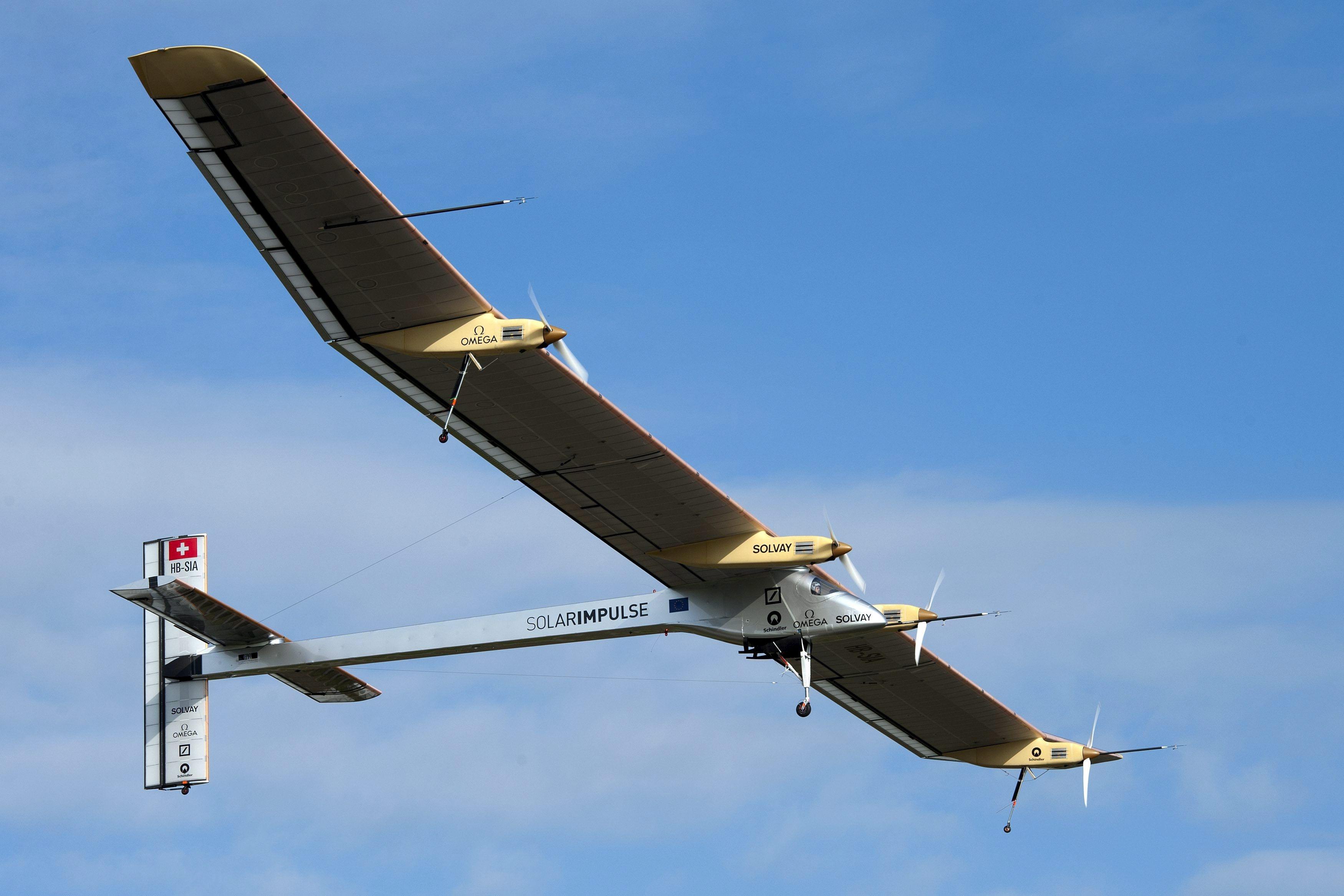 Primer avión solar. Foto: Efe