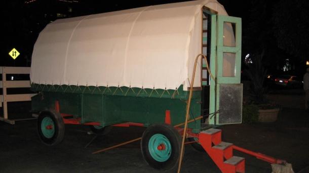 A sheep wagon, symbol of Boise's Basque heritage. Photo: Igor Lansorena