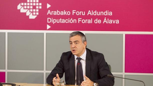Javier de Andres, Arabako ahaldun nagusia.