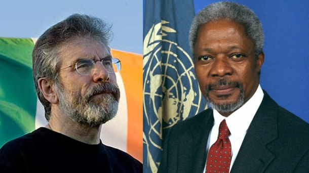 Kofi Annan and Gerry Adams. Photo: EITB