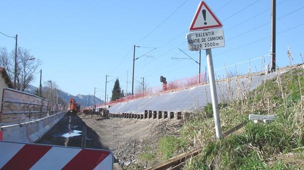 Travaux de terrassement de la ligne LGV PACA.