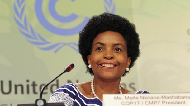 La ministra de Asuntos Exteriores de Sudáfrica, Maite Nkoana-Mashabane. Foto: EFE