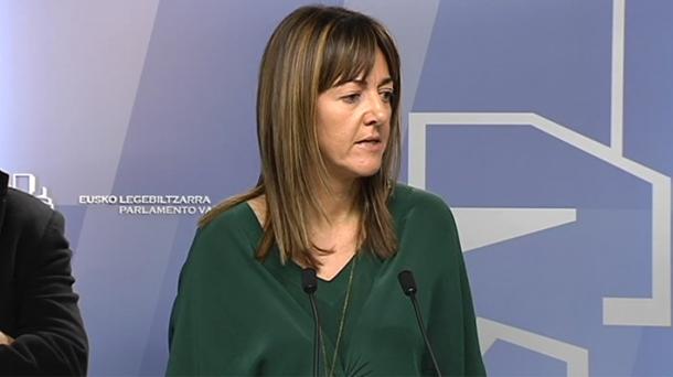 Idoia Mendia, portavoz del Gobierno Vasco. Foto: EITB