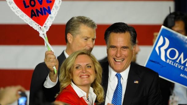 Mitt Romney hauteskunde-kanpainako ekitaldi batean.