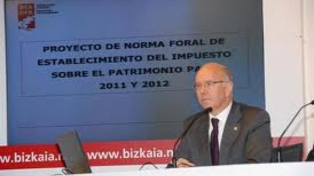 Jose Maria Iruarrizaga Bizkaiko Ogasun eta Finantza diputatua.