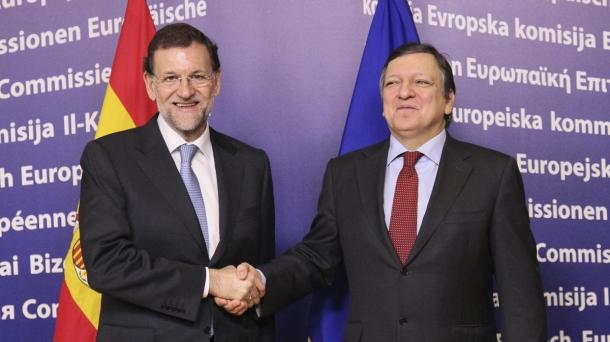 Mariano Rajoy Espainiako gobernuburua eta Jose Manuel Durao Barroso Europako Batzordeko presidentea.
