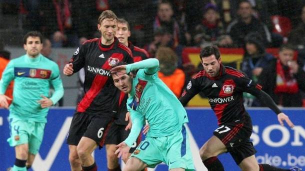 Octavos de final (ida): Bayer Leverkusen-FC Barcelona (1-3). Foto: EFE