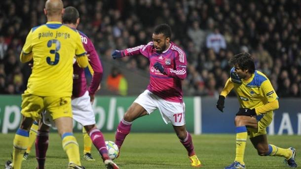 Octavos de final (ida): Olympique Lyonnais-APOEL (1-0). Foto: EFE