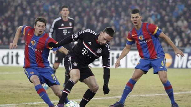 Octavos de final (ida): Basel-Bayern Munich (1-0). Foto: EFE