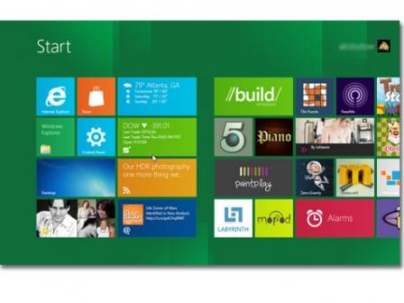 Microsoften Windows 8 berriaren aurkezpeneko irudia. Argazkia: Microsof  t