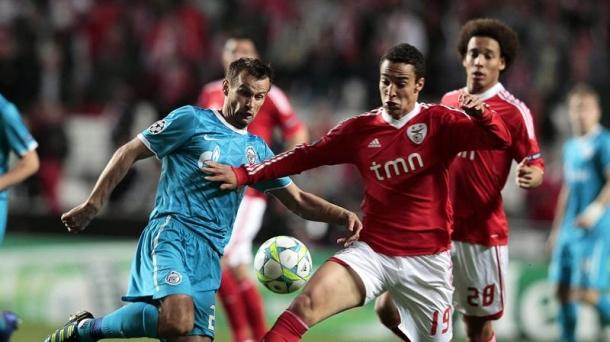Octavos de final (vurelta): Benfica-Zenit (2-0). Foto: EFE