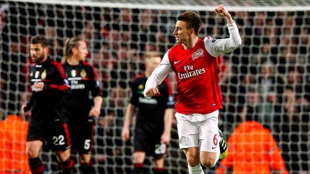 Octavos de final (vurelta): Arsenal-AC Milan (3-0). Foto: EFE