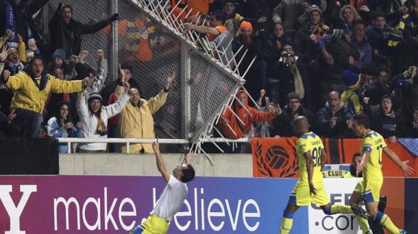 Octavos de final (vuelta): Apoel-O. Lyon (1-0). Foto: EFE