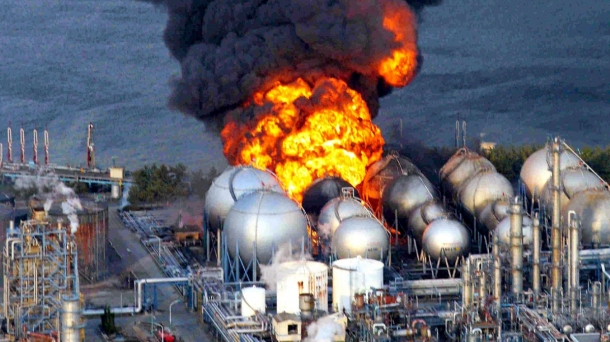 Leherketa Fukushiman (Japonia), tsunamiaren ondoren.