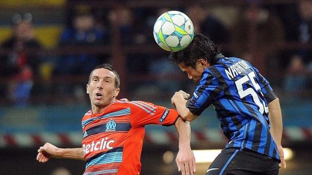 Octavos de final (vuelta): Inter de Milán-O (2-1). Marsella. Foto: EFE
