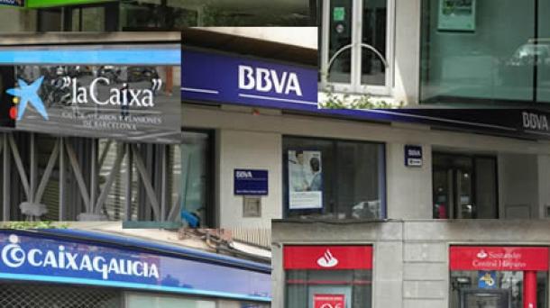 Espainiako banku batzuen irudia.
