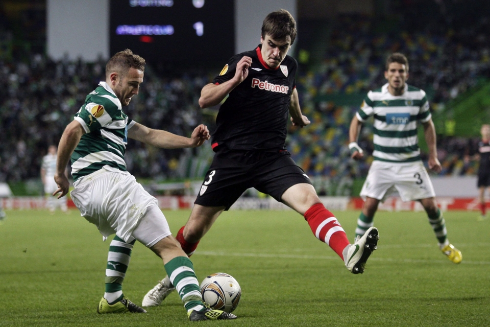 Semifinales de la Europa League (ida): Sporting-Athletic (2-1). Foto: EFE