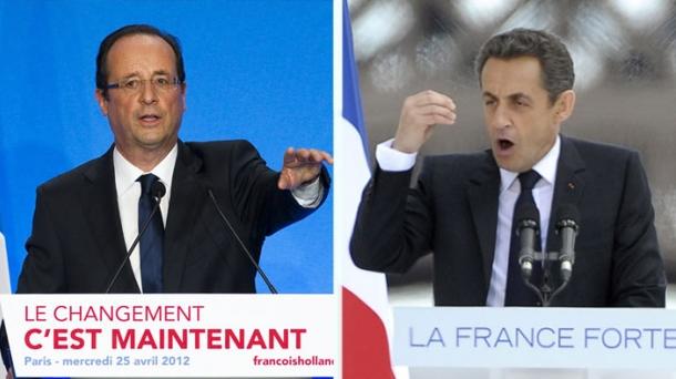 Hollande eta Sarkozy.