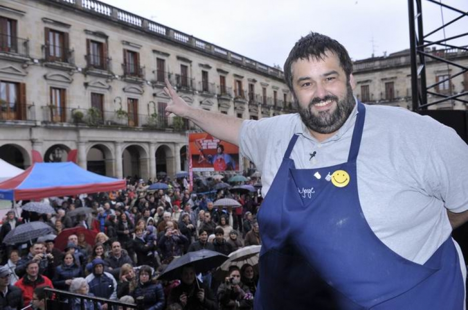 David de Jorge en la gran chocolatada de Radio Vitoria, 28-04-12