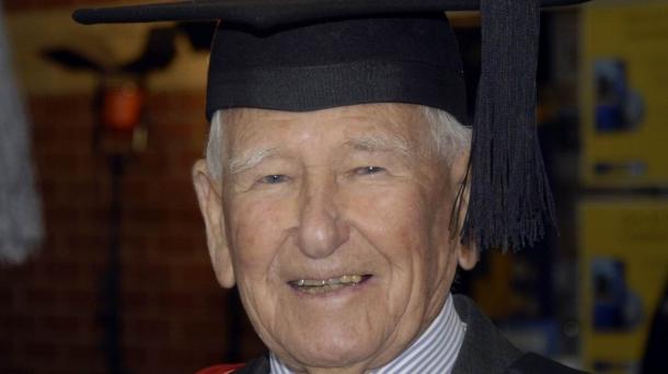 Allan Stewart, 97 años. Foto: EFE
