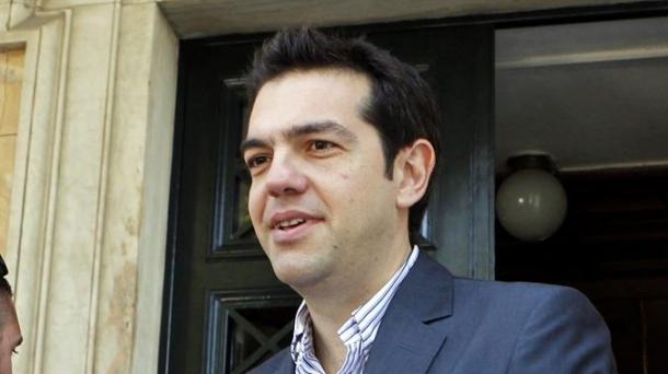 Alexis Tsipras Syriza alderdiko burua.