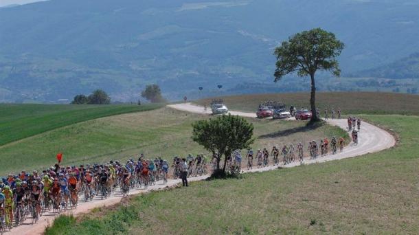 Pelotón del Giro de Italia 2012.