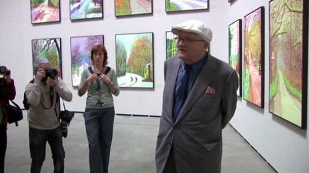 David Hockney en el Guggenheim Bilbao.