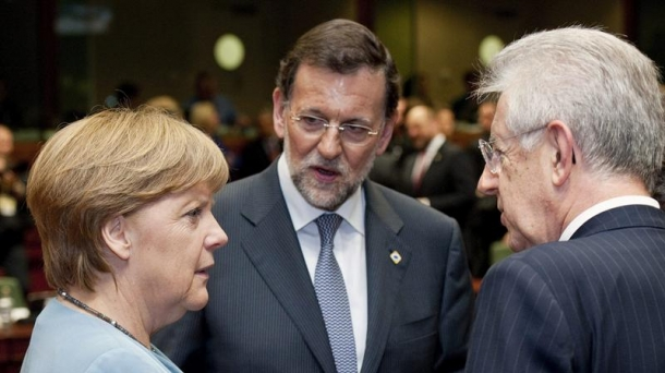 Mariano Rajoy and Angela Merkel during a meeting last month.