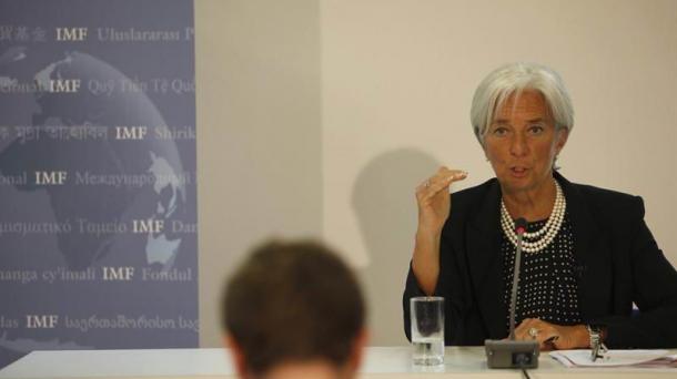 Christine Lagarde, Nazioarteko Diru Funtseko zuzendaria.