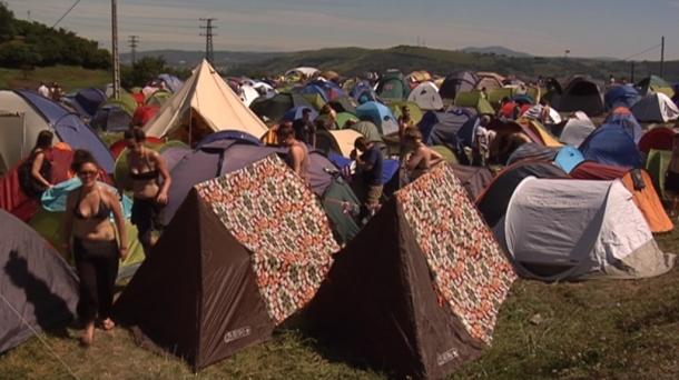 Camping del Bilbao BBK Live 2012. Foto: EITB