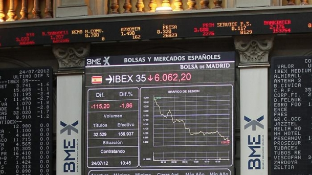 Madrid stock market.