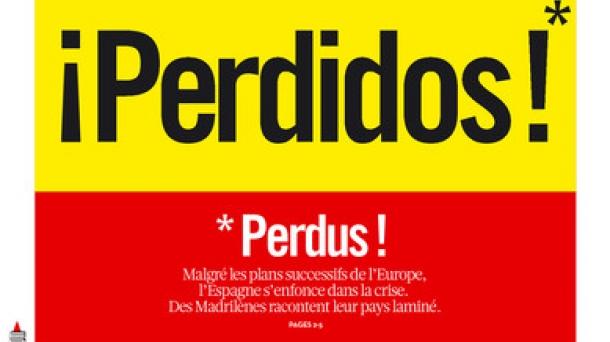 Portada del último número de 'Libération'.