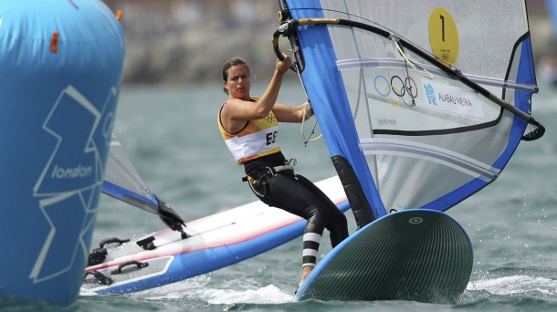 Marina Alabau competes in Weymouth.