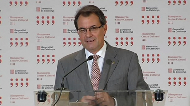 The leader of Catalonia's regional government Artur Mas.