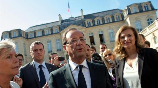 François Hollande pendant la journée du patrimoine. Photo: EFE