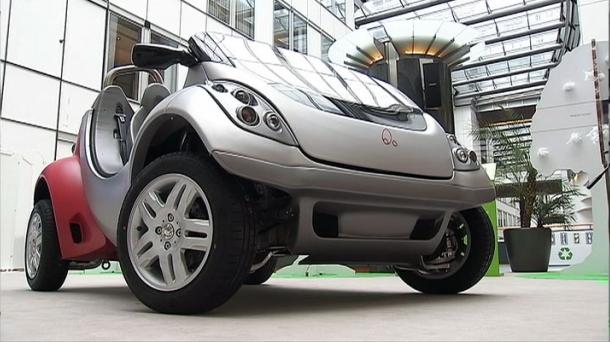 Presentación del coche eléctrico 'Hiriko' en Bruselas. Foto: EiTB