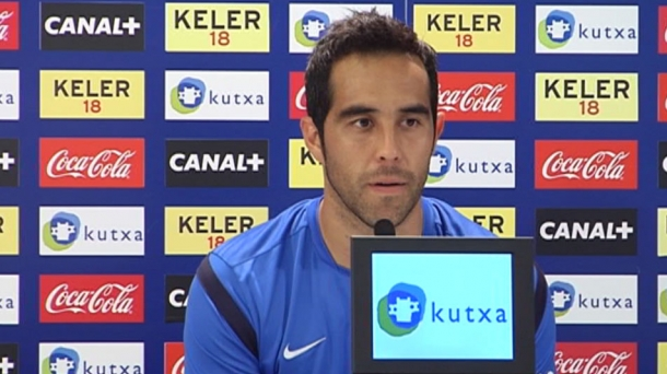 Real Sociedad goalkeeper Claudio Bravo. Photo: EITB
