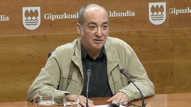 Martin Garitano diputado general de Gipuzkoa.
