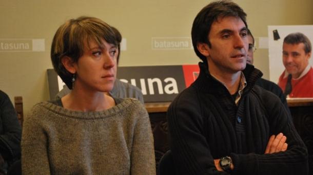 Aurore Martin et Xabi Larralde, dirigeants de Batasuna.