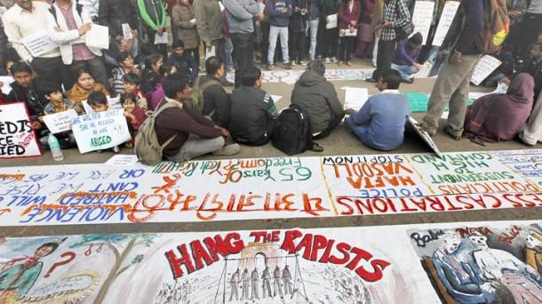 Las protestas se suceden en la India. EFE.