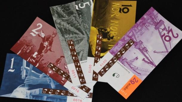 Así son los billetes de 'eusko'. Foto: Euskal Moneta