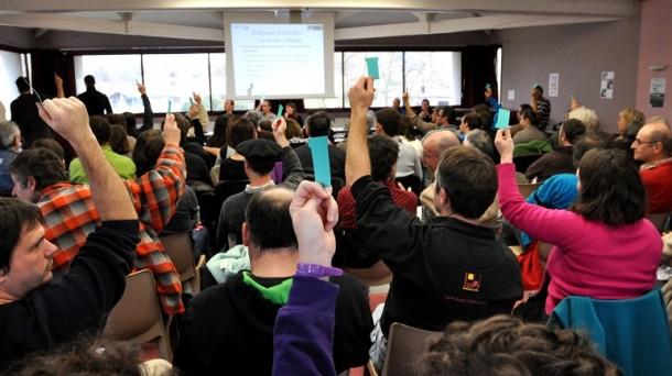 Assemblée générale du lancement de l'eusko. Photo: Euskal Moneta