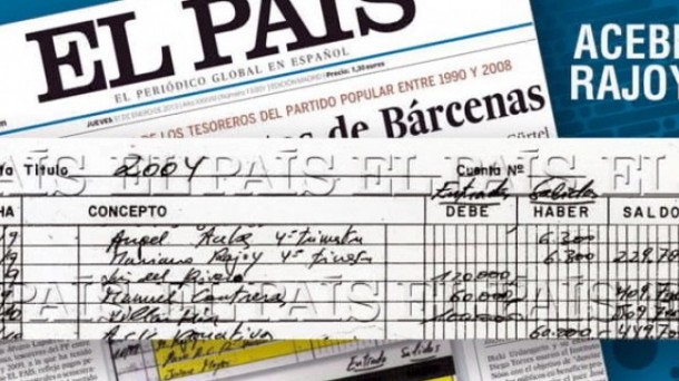 El Pais published images of excerpts of handwritten accounts maintained by PP treasurers.