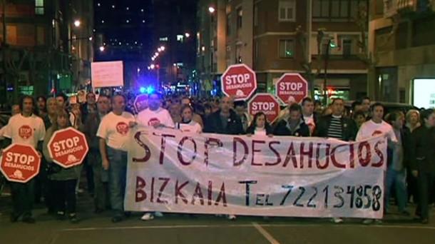 Concentración de Stop Desahucios. Foto: EiTB