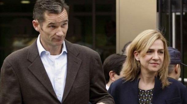 Iñaki Urdangarin and Princess Cristina. Photo: EFE